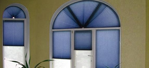 Арочные шторы плиссе